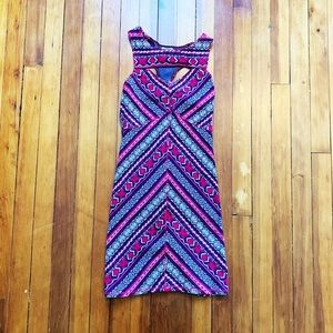 Free People multicolored geometric Bodycon Dress